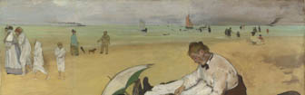 Coffee Conversation - Beach Scene by Edgar Degas