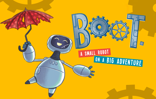 Reading from 'Boot' and Robot themed illustration workshop