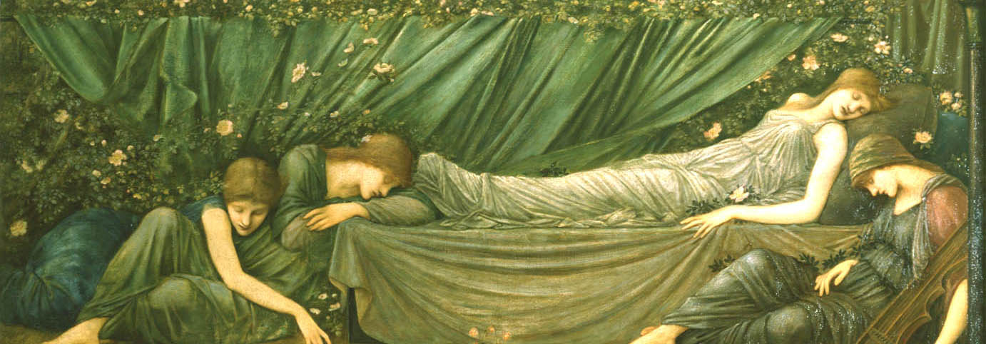 Coffee Conversation - The Sleeping Princess by Edward Burne-Jones