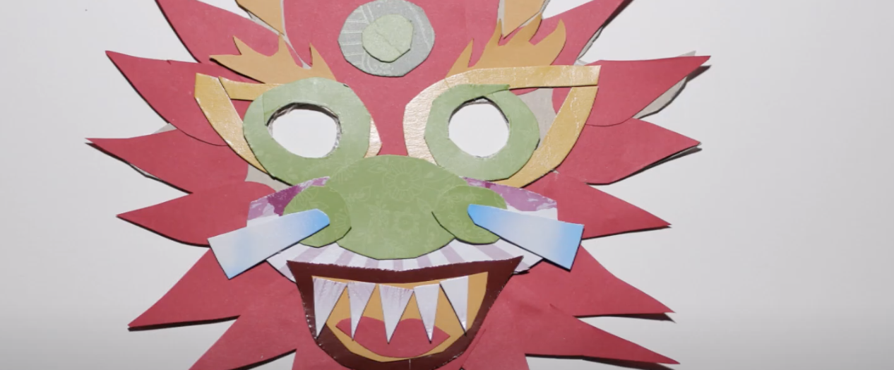 Make a Chinese Dragon Mask for Lunar New Year