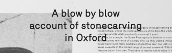 Sean Lynch: A Blow-by-Blow Account of Stonecarving in Oxford (publication)