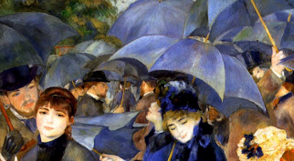 Coffee Lecture - Fashion in Les Parapluies (1881-86) by Pierre-Auguste Renoir