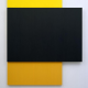Black Relief Over Yellow and Orange by Ellsworth Kelly (2004)