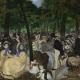 Music in the Tuileries Gardens by Edouard Manet (1862). Lane Bequest 1917. This is one of the thirty-nine paintings of the Hugh Lane Bequest on loan from the National Gallery, London.